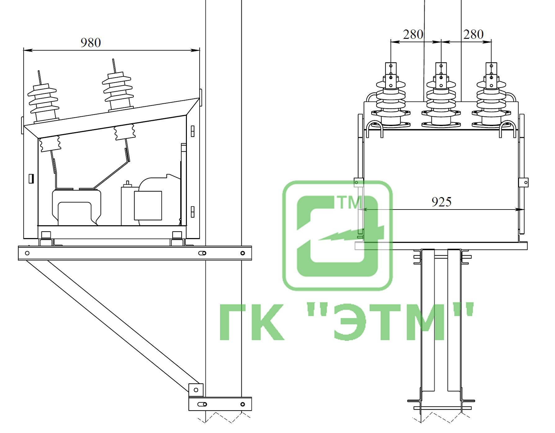 Схема присоединения трансформаторов тока и счётчика